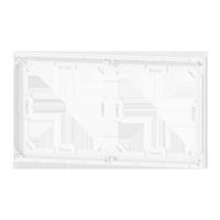 2-fold white adapter frame for 71 series
