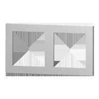 Rectangular 2-fold plate