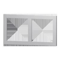 Rectangular 2-fold plate of 71 series
